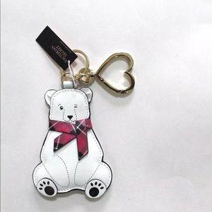 🆕 NWT Victoria Secret polar bear keychain